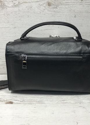 Женская кожаная сумка черная красная серая чорна шкіряна сумка2