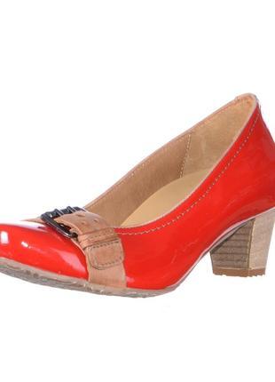 Кожаные лакированные туфли - сша р 36,5-42