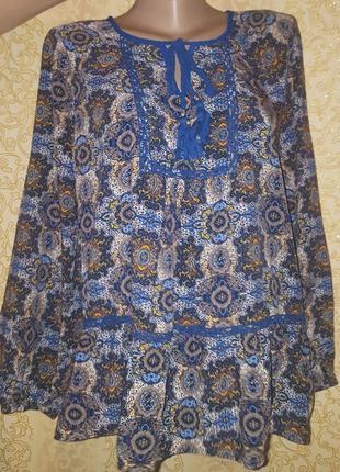 Красивая натуральная блуза рубашка р. l daniele rainn