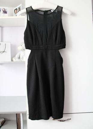 Черное платье интересного кроя от wyldr