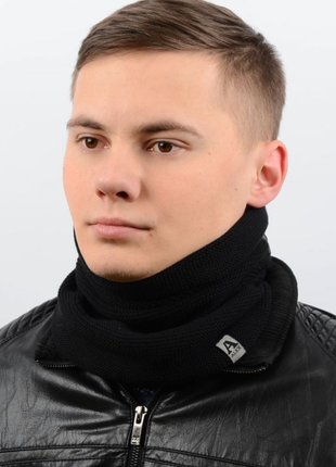 Мужской шарф-хомут на флисе, снуд , разные цвета