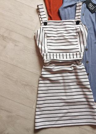 Платье в полоску miss selfridge