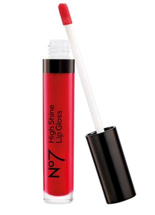 Блеск- помада красная boots no7 high shine lip gloss. 8ml 0.27 us fl. oz