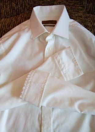 Фактурная белая рубашка burton.
