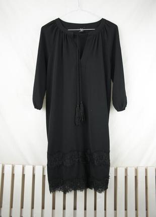 Крутое черное платье f&f