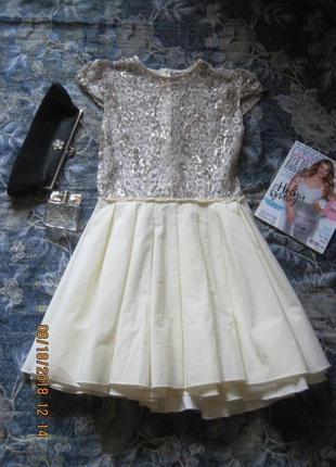Новогодний наряд! нарядное платье с пышной юбкой и серебристым верхом. jones+jones