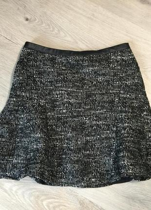 Твидовая юбка волан