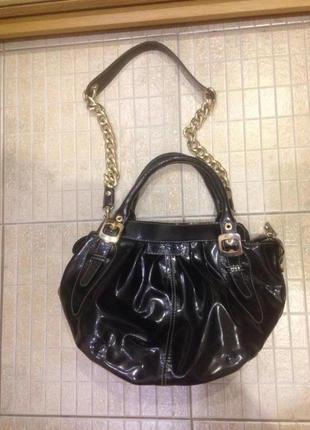 Продам кожаную сумку baldinini,оригинал