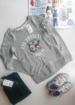 Свитшот свитер джемпер толстовка 134-140см от h&m
