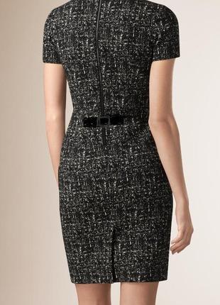 Тёплое,твид платье,кожа(100%)окантовка,маленький размер,люкс бренд,оригинал,burberry