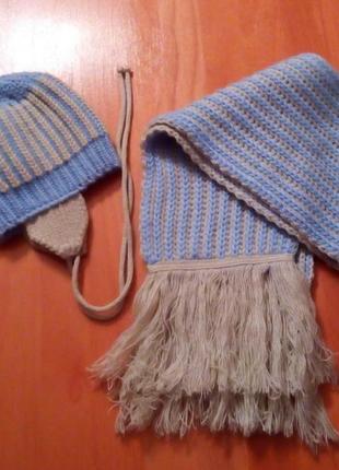 Шапка и шарфик польша на бирке указан размер 86