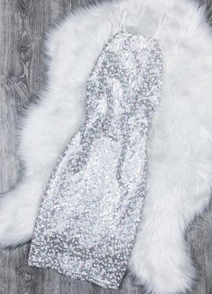 Неймовірна сукня в перламутрові пайєтки prettylittlething