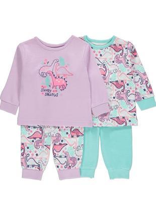 Набор детских пижам george - 2 шт. - рост 80,86,92