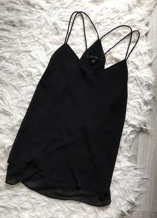 Шифоновая блуза майка на шлейках топ