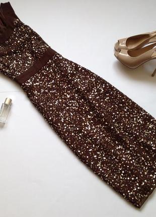 Платье миди в пайетки