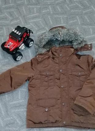 Куртка-пуховик на мальчика 5-6лет, prenatal