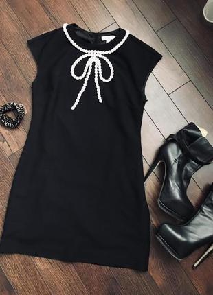 Стильное «маленькое черное платье», ted baker, оригинал, размер с/м