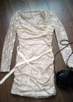 Плаття платье новий год  нарядне гипюр мереживо