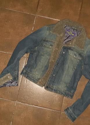 Стильная утепленная джинсовая куртка lifeline_р.42/12/38