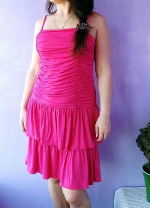 Новое не жаркое вискозное платье   s-xs  яркой расцветки
