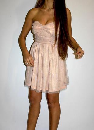 Платье в стразах - молния по спинке