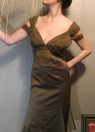 Cavalli. благородное респектабильное вечернее, коктейльное платье
