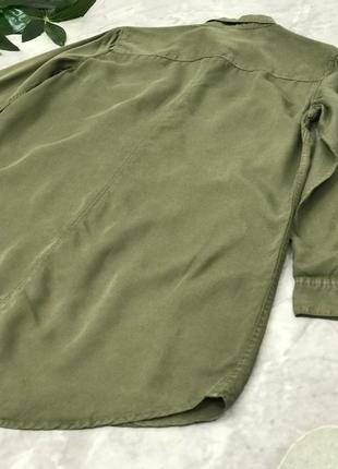 Удлиненная рубашка цвета милитари  bl1851116 h&m2 фото