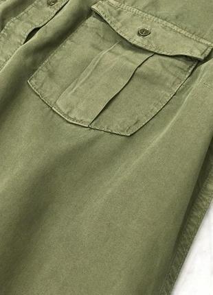 Удлиненная рубашка цвета милитари  bl1851116 h&m3 фото