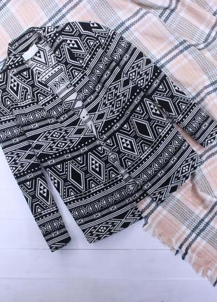 Классный котоновый пиджак жакет кардиган в принт от h&m conscious