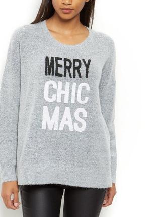"Новогодний свитер ""marry chic mas"" глиттер"