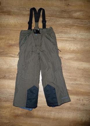 Полукомбинезон, теплые зимние штаны, лыжные брюки trespass на 2-3 года (реально до 4 лет,