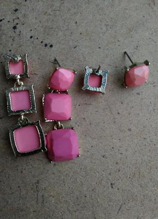 Коралловые серьги, розовые серёжки