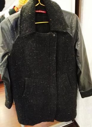 Стильное пальто шерсть ламы