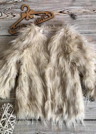 Пальто, куртка меховая tu 5-6лет, р.110-116см.