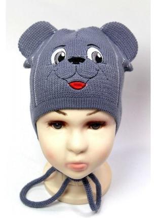 Нова шапка ведмедик мишка с ушками