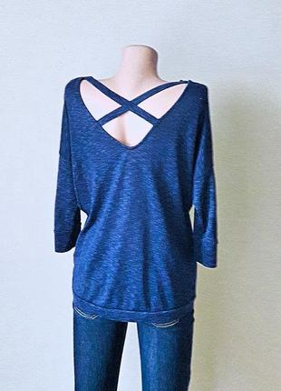 Красивый синий джемпер от amisu.
