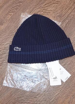 Оригинальная шапка lacoste ®beani hats последняя коллекция