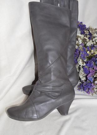 Сапоги кожаные весна осень clarks 38 5 размер