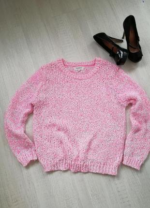 🎄 объёмный свитер крупной вязки 🎄 джемпер розового цвета 🌹