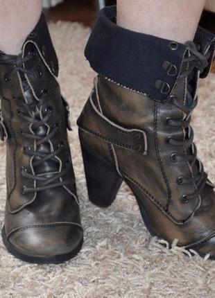 Ботинки сапоги кожаные осень полусапоги 37 размер river island