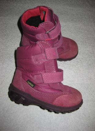 13,5 см стелька, зимние термо сапоги ботинки ecco, экко с гортексом