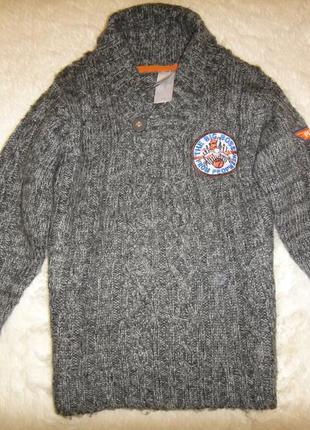 Теплый вязаный свитер на мальчика disney от c&a р. 110-116