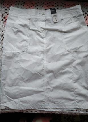 Новая юбочка из натуральной ткани bonmarche