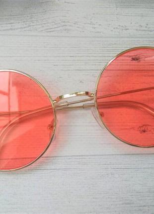 Цветные круглые очки тишейды красный