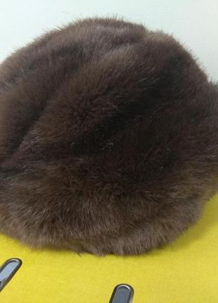 Хорошенькая шапочка из эко-меха (имитация норки) - обмен на шарф, снуд, платок