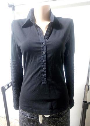 Кофточка трикотажная рубашка размер uk 12 наш 46