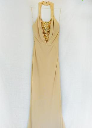 Роскошное новое вечернее выпускное свадебное платье в пол со шлейфом mango