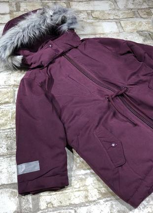 Стильная тёплая куртка длинная на флисе, парка демисезон с капюшоном, евро зима2