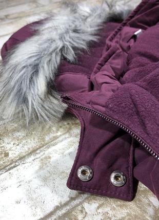 Стильная тёплая куртка длинная на флисе, парка демисезон с капюшоном, евро зима4