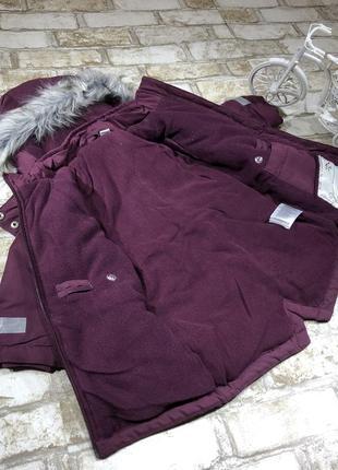 Стильная тёплая куртка длинная на флисе, парка демисезон с капюшоном, евро зима3